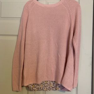 LOFT mixed media sweater for sprint NWT